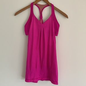 lululemon Practice Freely Tank Built-in Bra Pink 4